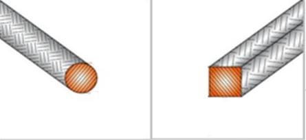круглое и квадратное сечение